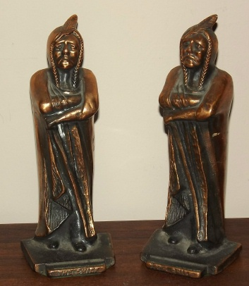 Image for THE CHIEF BOOKENDS. $165.00