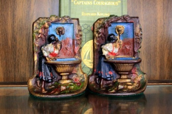 "Image for ""MAIDEN'S FOUNTAIN"" BOOKENDS."
